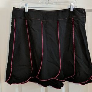 Torrid Skirt with pink stitching design